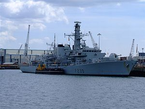 HMS Richmond (F239) - HMS Richmond in Portsmouth Naval Base