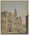 HUA-28741-Gezicht op de voorgevel van het Stadhuis aan de Stadhuisbrug te Utrecht.jpg