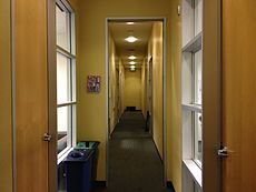 Main hallway of classrooms
