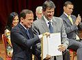 Haddad e Doria na cerimônia de transmissão de cargo.jpg