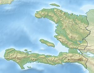 Haiti relief location map