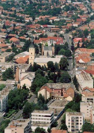 Hajdúnánás - Aerial view
