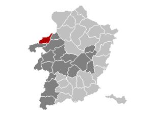 Ham, Belgium - Image: Ham Limburg Belgium Map