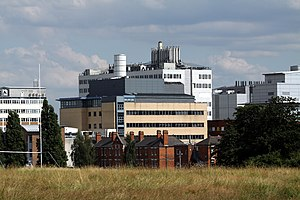 Hammersmith Hospital - Hammersmith Hospital from Wormwood Scrubs Park