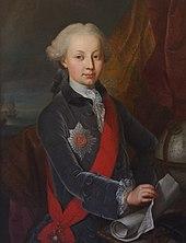 Jakob Emanuel Handmann, Bildnis Peter (I.) von Oldenburg (1766). (Quelle: Wikimedia)