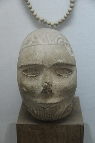 Bust from the Harappan civilization, one of the earliest civilizations of the Bronze Age Harappan face (Indus Valley).jpg