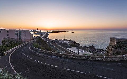 Harbour of Sète at dawn