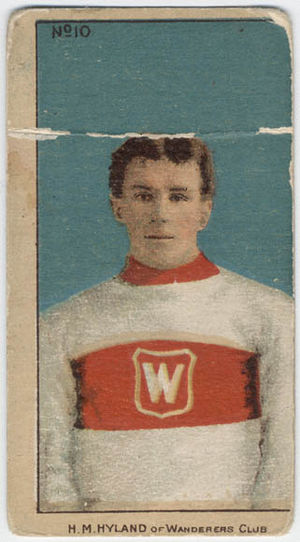 Harry Hyland - Hyland with the Montreal Wanderers.