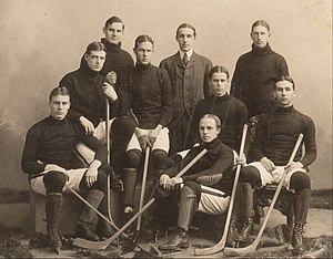 Harvard Crimson men's ice hockey - Harvard University team in 1901.