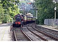 Haverthwaite Steam Railway loco arriving at Lakeside Windermere - geograph.org.uk - 290826.jpg
