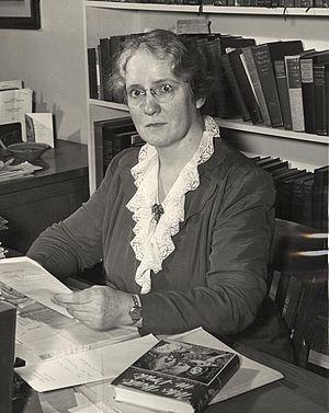 Helen C. White - White at her desk