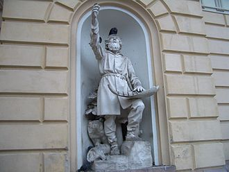 Kalevala - The statue of Väinämöinen by Robert Stigell (1888) decorates the Vanha Ylioppilastalo (Old Student House) built in 1870 in Helsinki, Finland.
