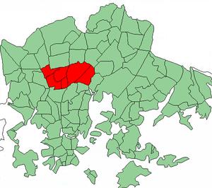 Oulunkylä - Image: Helsinki districts Oulunkyla