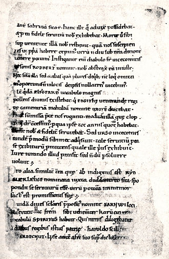 Eadric Streona - A page from Hemming's Cartulary, an 11th-century manuscript.