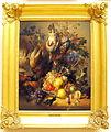 Hendrik Reekers (1815-1854), Stilleven met vruchten, bloemen en dood wild, 1847, Olieverf op paneel.JPG