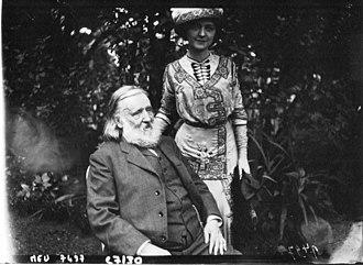 Marcelle Géniat - Géniat with the politician Henry Maret.