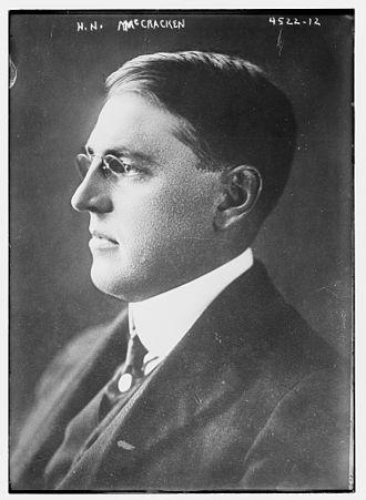Henry Noble MacCracken - MacCracken circa 1915