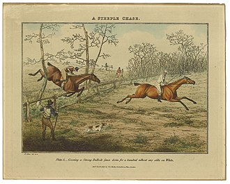 "Henry Thomas Alken - January 1, 1827: A Steeple Chase. ""Plate 5..."" of 6"