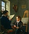 Hermann Kauffmann - Hermann Kauffmann und Georg Haeselich in Kauffmanns Atelier in München (1830).jpg