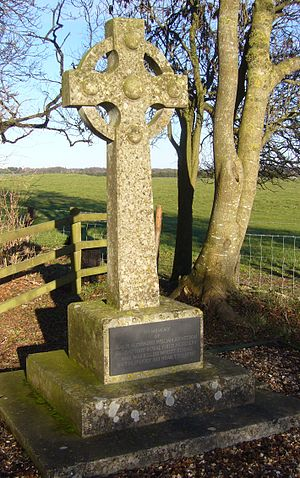 A344 road (England) -  memorial to Major Alexander William Hewetson
