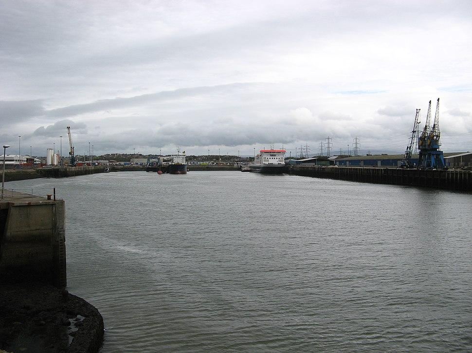Heysham Harbour, from entrance