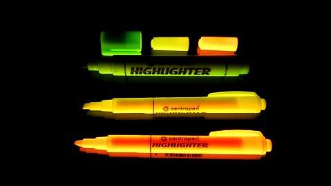 Highlighters under UV light.jpg