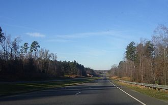 U.S. Route 64 in North Carolina - US 64 near Siler City