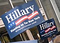 "Hillary Clinton ""Standing up for New York"" signs at election debate (277344907).jpg"
