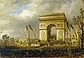 Hippolyte Sébron - La fête de la Fraternité, le 20 avril 1848, place de l'Étoile , distribution des drapeaux à la garde nationale - P1029 - Musée Carnavalet.jpg