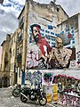 Hipster with a selfie stick punished by old Lady • The Greatest Graffiti in Lisbon, Portugal (49667561921).jpg