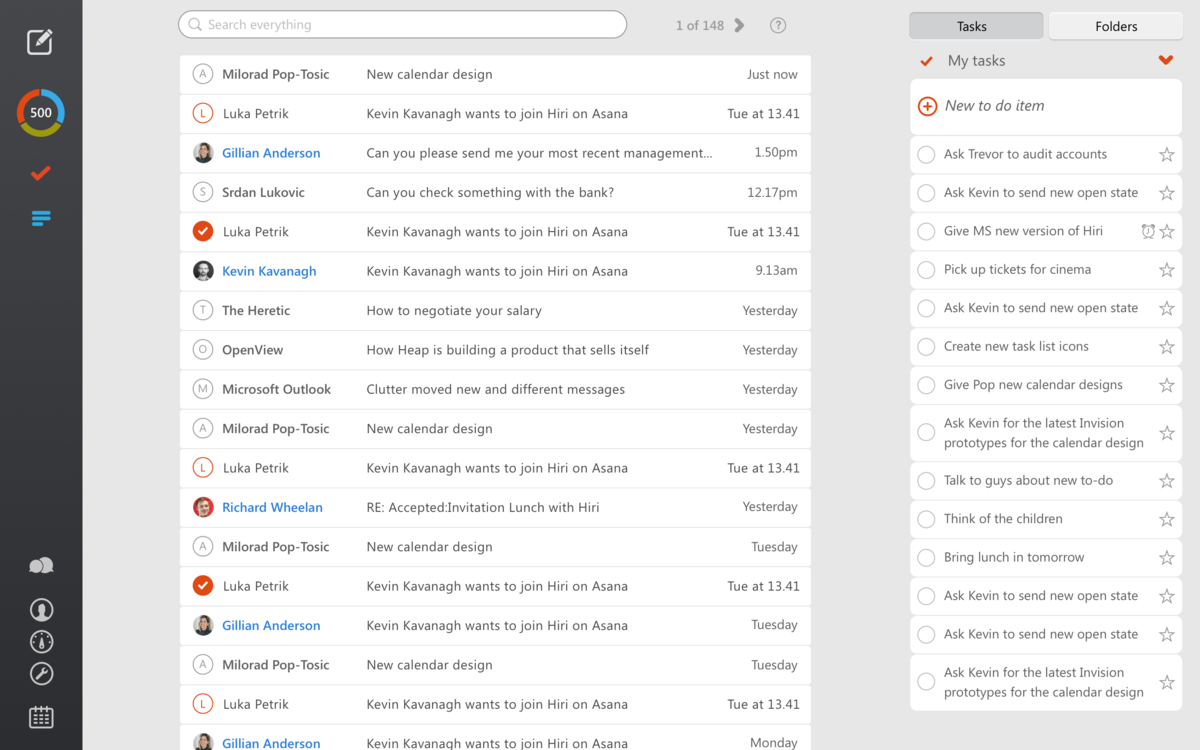 hiri  email client
