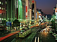 Ebisu-chō Station at night