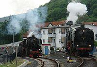 Historische Eisenbahn 01 118 und 52 4867 in Königstein im Taunus.JPG