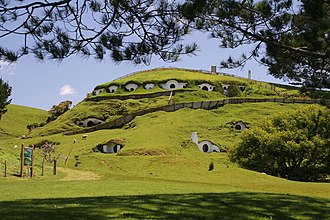 Media of New Zealand - A farm near the town of Matamata in the Waikato stood in for Hobbiton in the Lord of the Rings series.