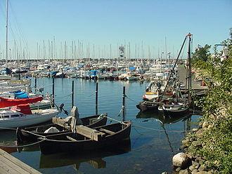 Höganäs - Höganäs harbour in September 2002