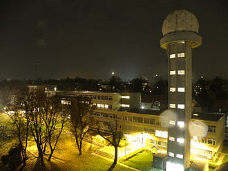Central Institution for Meteorology and Geodynamics - ZAMG headquarters by night