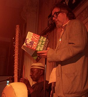 Bob Holman - Holman performing with Papa Susso at the Bowery Poetry Club in 2016