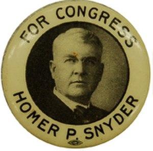Homer P. Snyder - Campaign button, 1912
