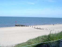 Strand van Hopton-on-Sea
