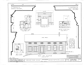 Horace Paine House, Walker and Illinois Streets, Grand Detour, Ogle County, IL HABS ILL,71-GRAD,3- (sheet 1 of 2).png