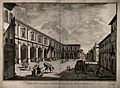 Hospital of Santa Maria Nuova, Florence, Italy. Etching by B Wellcome V0014712.jpg