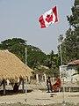 Hostel Site with Canadian Flag - Sukumari Village - Sundarban District - South of Kolkata - India (12347357684).jpg