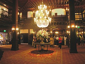 Lobby area in the Hotel del Coronado. Camera u...