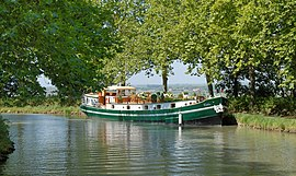 Houseboat on the Canal du Midi