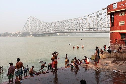 The Howrah Bridge in Kolkata, India was opened in February 1943