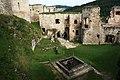 Hrad Rabí s hradním kostelem Nejsvětější Trojice, část stojící, část zřícenina a archeologické stopy (Rabí) (9).jpg