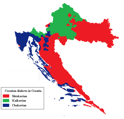 Map of the dialects of Croatia Hrvatska narjecja.png