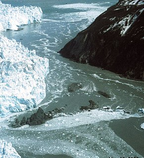 Glacial lake outburst flood A type of outburst flood that occurs when the dam containing a glacial lake fails