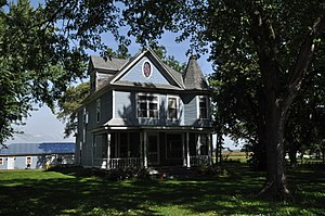 National Register of Historic Places listings in Turner County, South Dakota - Image: Hurley SD Farrar House