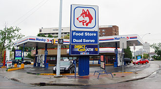 Husky Energy - Husky Gas Station, Downtown Edmonton, Alberta.